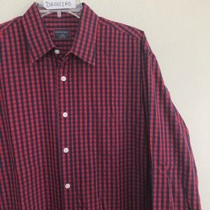 UNTUCKit button down long sleeve checks shirt L
